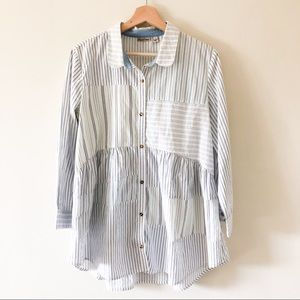 Holding Horses stripe patch detail blouse 477